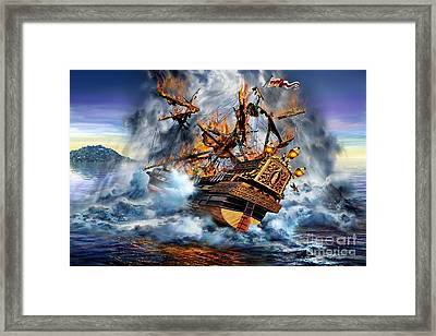 Shipwreck Framed Print by Adrian Chesterman