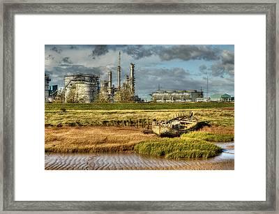 Shipwreck At Saltend Framed Print