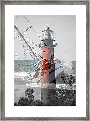 Framed Print featuring the photograph Shipwreck by George Mount