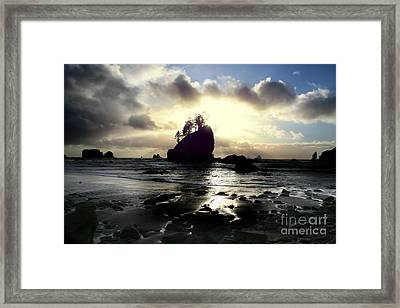 Shipwreck Rock Framed Print