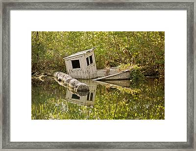 Shipwreck Silver Springs Florida Framed Print by Christine Till