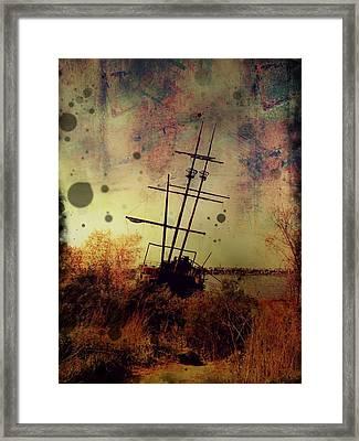 Shipwreck Framed Print by Tracy Munson