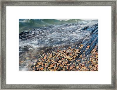 Shipwreck Waves Framed Print