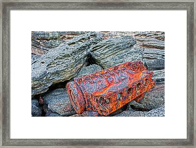 Framed Print featuring the photograph Shipwrecked ? by Miroslava Jurcik