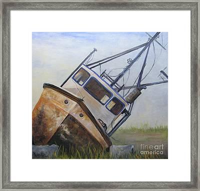 Shipwrecked Ike  Framed Print