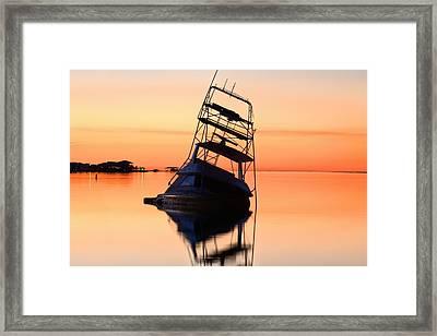 Shipwrecked In Navarre Framed Print
