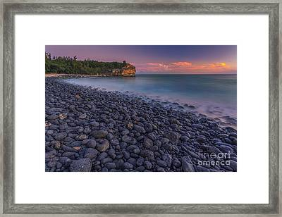 Shipwrecks At Sunset Framed Print by Marco Crupi