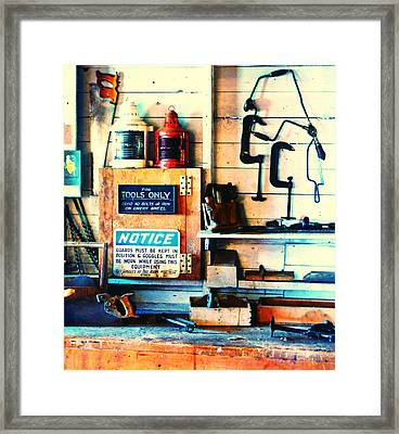 Shipyard Carpentry Framed Print