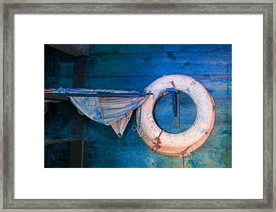 Shipyard Lifesaver Framed Print