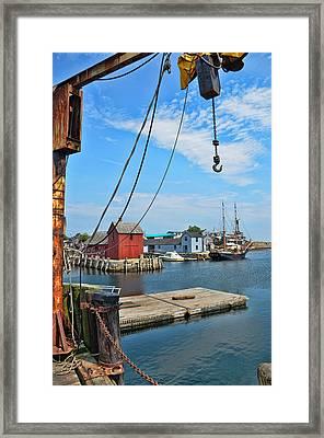 Shipyard Of Cape Ann... Framed Print by Joanne Beebe