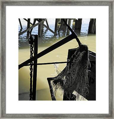 Shipyard Underside Framed Print by Laurie Tsemak