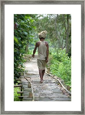 Shiri Shiri Uttar Kamalabari Satra Framed Print by Ellen Clark