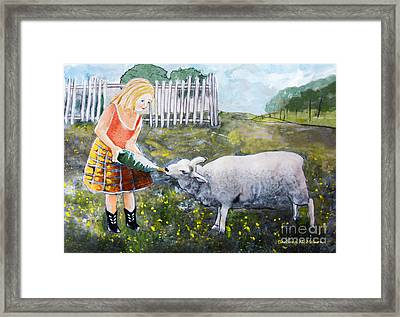 Shirley And Curly Framed Print by Barbara McMahon