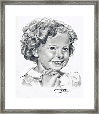 'shirley' Framed Print by Barb Baker