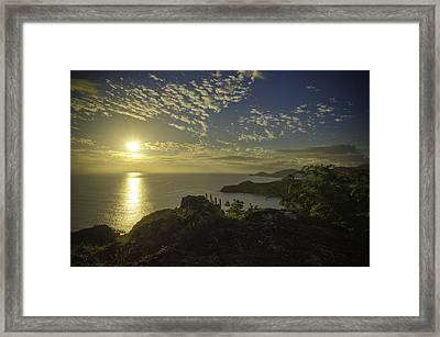 Shirley Heights Sunset Framed Print