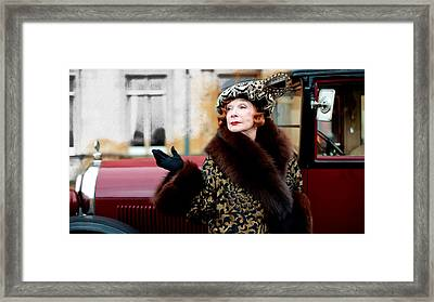 Shirley Maclaine @ Tv Serie Downton Abbey  Framed Print