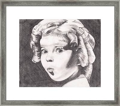 Shirley Temple Framed Print by Beverly Marshall