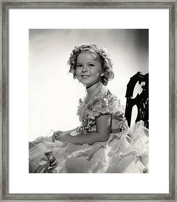 Shirley Temple Portrait Framed Print by Georgia Fowler