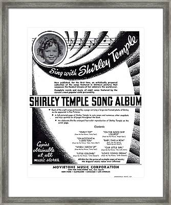 Shirley Temple Song Album Framed Print