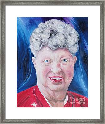 Shirley's Portrait Framed Print by PainterArtist FINs husband Maestro