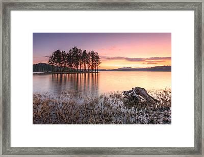 Shiroka Polyana Lake  Framed Print