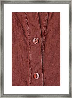Shirt Buttons Framed Print by Tom Gowanlock