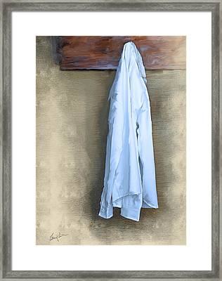 Shirt Hanging On A Wall Framed Print
