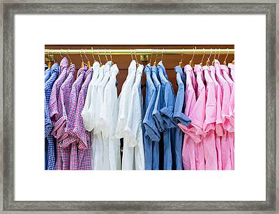 Shirts Framed Print by Tom Gowanlock