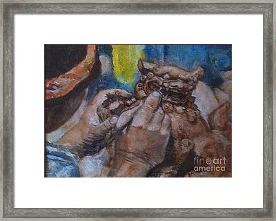 Shisa Dog Framed Print