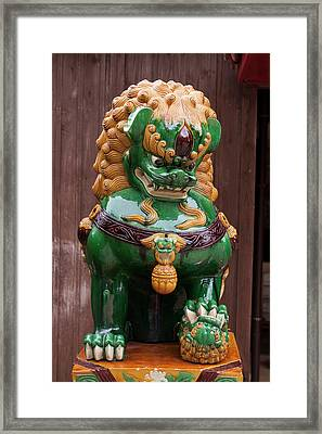 Shisa, Or Okinawan Lion Gods Framed Print