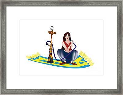 Shisha Girl Framed Print by Regina Koch