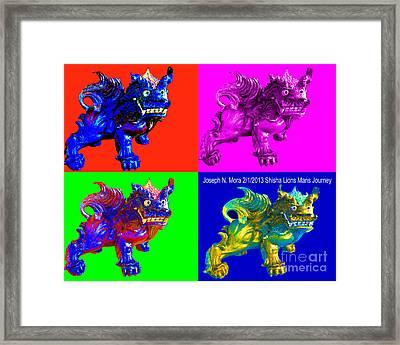 Shisha Lion Framed Print