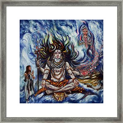 Shiva - Ganga - Harsh Malik Framed Print
