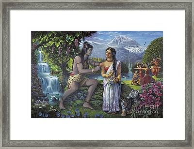 Shiva And Parvati Framed Print