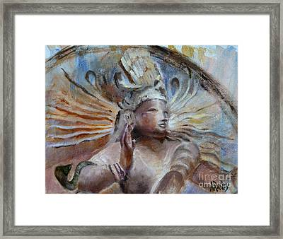 Shiva Dreams In Color Framed Print by Ann Radley