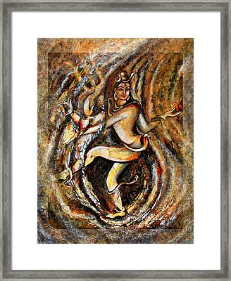 Framed Print featuring the painting Shiva Eternal Dance by Harsh Malik