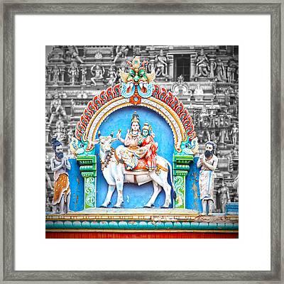 Shiva In Chennai Framed Print by Karen Anderson