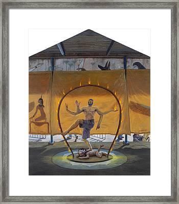 Shiva Luchador Framed Print by Alfredo Arcia