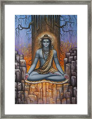 Shiva Meditation Framed Print by Vrindavan Das