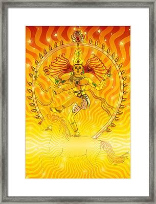 Shiva Nataraja Iv Framed Print by Harald Dastis