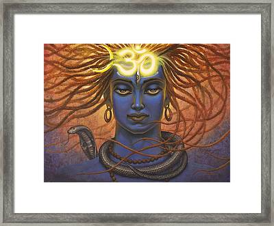 Shiva Om Framed Print