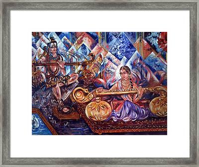 Shiva Parvati Framed Print by Harsh Malik