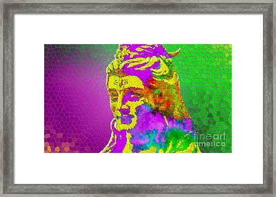Shiva Says Om Shanti  Framed Print by Tarik Eltawil