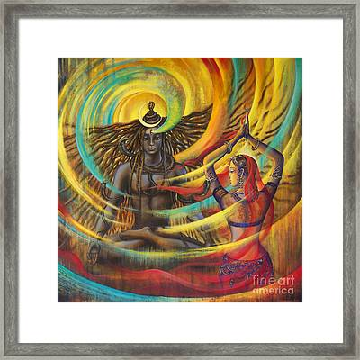 Shiva Shakti Framed Print by Vrindavan Das