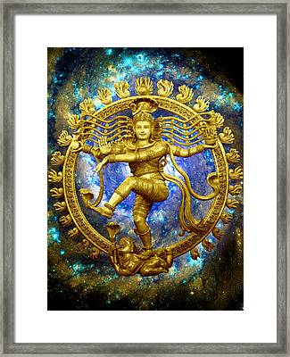 Shiva The Cosmic Dancer Framed Print by Svahha Devi