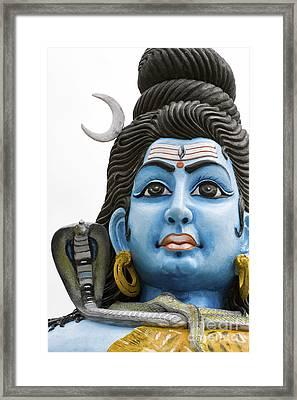 Shiva Framed Print by Tim Gainey