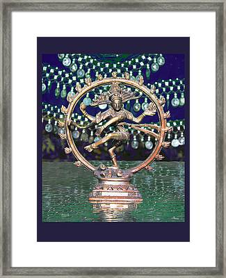 Shiva Upon The Water Framed Print by Susan Alvaro