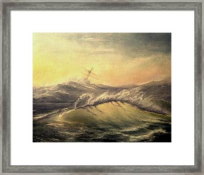 Shivering Beauty Of Storm Framed Print by Mikhail Savchenko