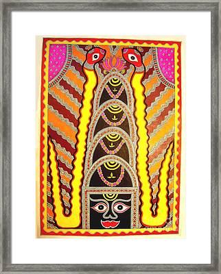 Shivling With Nags Framed Print