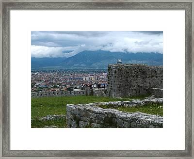 Shkoder From Rozafa Castle - Albania Framed Print